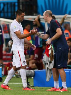 MANAUS, BRAZIL - JUNE 22: Clint Dempsey of the United States exits the game during the 2014 FIFA World Cup Brazil Group G match between the United States and Portugal at Arena Amazonia on June 22, 2014 in Manaus, Brazil. (Photo by Kevin C. Cox/Getty Images)
