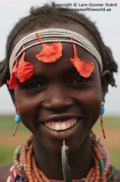 Africa | Dassanetch girl, Lower Omo valley, Ethiopia |  © Lars-Gunnar Svärd
