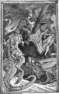 Hj Ford illustration for one of Andrew Lang's colored fairy books.