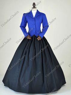 Victorian Edwardian 3-PC Vintage Suit Dress Riding Habit Theatre Reenactment Clothing
