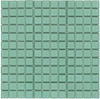 Glass Mosaic Tile Backsplash Marine 1x1