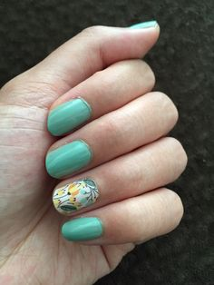 Sweet whimsy (matte) accent with Essie Turquoise and Caicos
