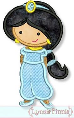 Cutie+PRINCESS+as+JASMINE+from+ALLADIN+Applique+by+LynniePinnie,+$2.99