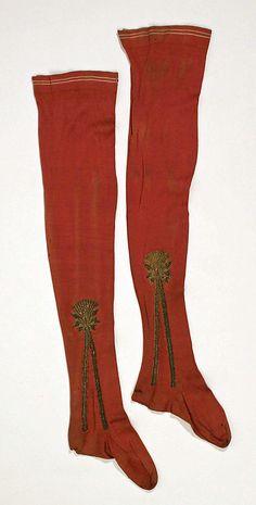 Ensemble, Socks/Stockings, Date: 17th century Culture: Italian Medium: silk Accession Number: C.I.63.26a–f