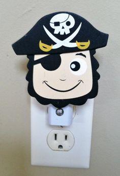 Pirate Night Light, Nursery Light, Baby Light, Boy Night Light, Pirate Baby, Pirate Room Decor, Pirate Light, Personalized