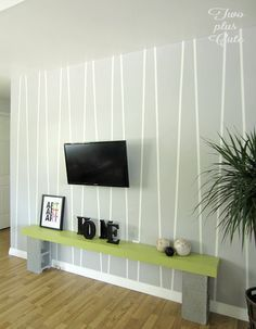Accent Wall Designs diy tutorial: paint an accent wall in diamond geometric design via