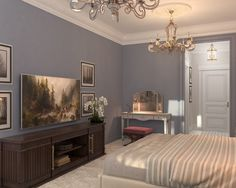 Darya Girina Interior Design: Interior design of Double and Sibgle Apartments of the Bariatinsky Palace