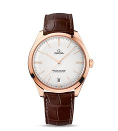 OMEGA Watches: De Ville Trésor Omega Master Co-Axial 40 mm - White gold on leather strap - Patek Philippe, Master, Classic Gold, Watch Brands, Luxury Watches, Omega Watch, Watches For Men, Men's Watches, Collection