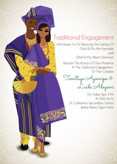 Modern Traditional And Ethnic Themed African Wedding Invitations