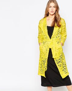 Image 1 of Closet Lace Duster Coat