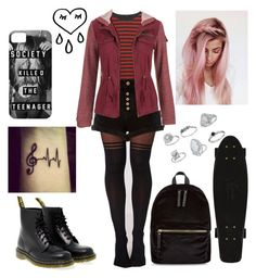 """""""Skater girl☪️"""" by lacie-clair on Polyvore featuring R13, Dr. Martens, River Island, maurices, New Look and Miss Selfridge"""