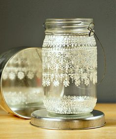 Snow Fairy Mason Lantern - Handmade Moroccan Nights Collection