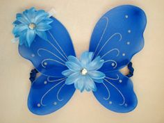 EXTRA 15% OFF-Royal Blue Butterfly Wings With Matching Headband SET-Baby Girl Outfit-Fairy-Infant-Newborn-Child-Dress Up-Halloween Costume- on Etsy, $14.99