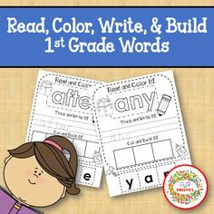 Get ready for Back to School with these Build-a-Word WorksheetsDolch First Grade Kindergarten Sight Words41 worksheetsEach worksheet has the sight word for the student to- Read… Kindergarten Language Arts, Kindergarten Reading, Reading Activities, First Grade Sight Words, Sight Word Practice, Word Building, First Grade Reading, Different Words, School Readiness