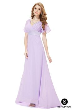 Only $45, Lavender Chiffon Double V-Neck Ruffles Padded Evening Dress #EP09890LV at #SheProm. SheProm is an online store with thousands of dresses, range from Formal,Bridesmaid,Purple,Long Dresses and so on. Not only selling formal dresses, more and more trendy dress styles will be updated daily to our store. With low price and high quality guaranteed, you will definitely like shopping from us.