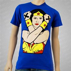 1981 Straight Edge Clothing t-shirts, Wonder Woman Blue ~