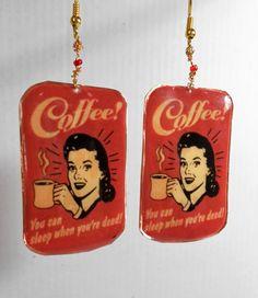 Retro earrings by YolandaCraft on Etsy