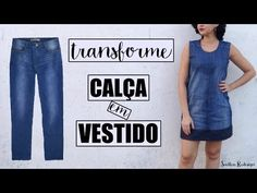 YouTube Handmade Clothes, Diy Clothes, Diy Old Jeans, Jean Crafts, Recycled Denim, Dress Cuts, Sewing Techniques, Refashion, Sewing Tutorials