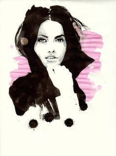 Penelope Cruz - Black Ink, Parker Pen, Illustration by Mitja Bokun, November2012