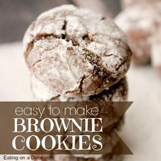Try this easy Chocolate Brownie Cookies recipe. They are easy to make but taste amazing. They are fabulous around the holidays, just because. Cake Mix Cookies, Yummy Cookies, Cookies Et Biscuits, Cupcakes, Chocolate Brownie Cookie Recipe, Chocolate Brownies, Chocolate Chocolate, Chocolate Treats, Chocolate Truffles