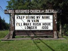 These 17 church signs are sure to give a few laughs. We're grateful for these church signs using their God-given sense of humor! Church Sign Sayings, Funny Church Signs, Church Humor, Funny Signs, Church Quotes, Religious Humor, Christian Humor, Christian Quotes, Christian Signs