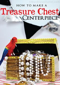 pirate decorations | treasure chest pirate centerpiece party decorations diy how to make ...