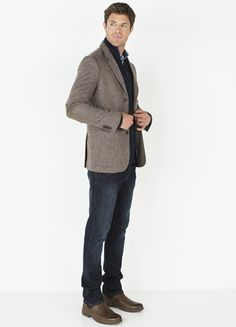 tweed jacket with suede elbow patches man - Google Search