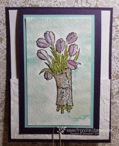 Stamp & Scrap with Frenchie: Fun Fold for Gift Card (see video)