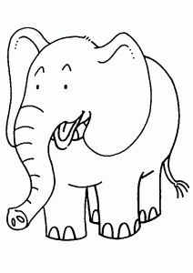 20 cute elephant coloring pages your toddler will love to color
