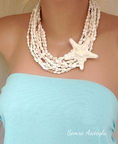 Beach weddings Brides  necklace with  sea by HMbySemraAscioglu, $52.00