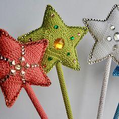 Ravelry: Magic Wand pattern by Hatty Nady for Mère et Fille Tricots Thread Crochet, Knit Crochet, Star Chart, Headband Pattern, Glue Gun, Wands, Ravelry, Crochet Patterns, Bling