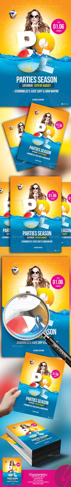 Pool Parties Season Flyer - Clubs & Parties Events Download here: https://graphicriver.net/item/pool-parties-season-flyer/19973081?https://themeforest.net/item/assemble-a-contemporary-portfolio-theme/16966325?ref=classicdesignp