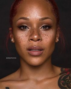 Gorgeous Makeup: Tips and Tricks With Eye Makeup and Eyeshadow – Makeup Design Ideas Black Girls With Freckles, Black Freckles, Freckles Girl, Freckles Makeup, Beautiful Freckles, Beauty Makeup, Hair Beauty, Freckle Face, My Black Is Beautiful