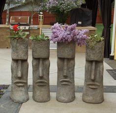 Snohomish Garden Art: New Site Mosaic Garden, Garden Art, Garden Design, Backyard Projects, Garden Projects, Tiki Art, Tiki Tiki, Tall Ornamental Grasses, Tiki Head