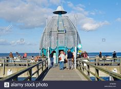 Diving bell at the pier in the Baltic resort Sellin, Ruegen Island, Mecklenburg-Western Pomerania, Germany, Europe Stock Photo