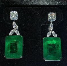 Set two cushion diamonds Carat total weight Diamond Earrings GIA CERT. Appraisal available GIA cert. A gorgeous pair of earrings! Emerald Pendant, Emerald Earrings, Gold Drop Earrings, Silver Pendant Necklace, Gold Pendant, Sterling Silver Pendants, Bracelet Box, Colombian Emeralds, Platinum Engagement Rings