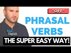 """How can you learn a billion phrasal verbs in a couple of minutes? With Papa Teach Me! Today we look at phrasal verbs with the preposition """"Off""""! You can supp. Helping Children, Working With Children, English Tips, Learn English, Phrasal Verbs With Up, English Prepositions, British Accent, English Language, Teaching"""