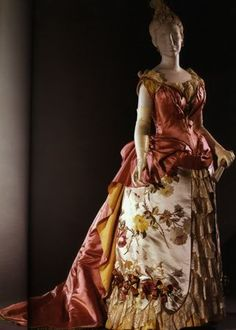 House of Worth, Evening Gown, Paris, 1886-1887.