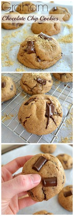 Thick and chewy chocolate chip cookies stuffed to the max with graham cracker crumbs and gooey chocolate chips wholeandheavenlyoven.com