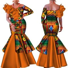 Danshiki Africa Dress for Women Bazin Riche one-shoulder Sexy Slash Neck Wedding Party Dress Traditional African Clothing African Prom Dresses, African Dresses For Women, Latest African Fashion Dresses, African Attire, African Wear, African Women, African Dashiki, Nigerian Fashion, African Print Clothing