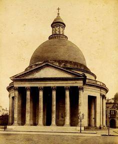 1890's Buenos Aires. Iglesia Inmaculada Concepción 'Redonda' del barrio de Belgrano