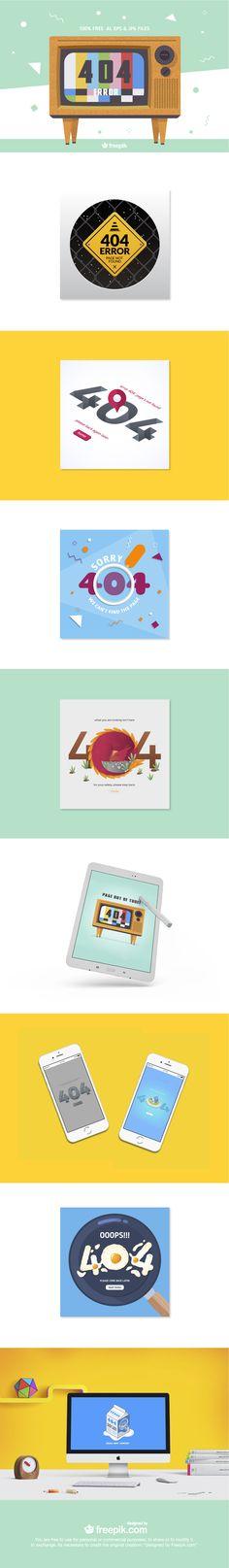 Pack exclusivo de diseños creativos para paginas de Error 404 gracias a Freepik. Descargalo gratis aqui!