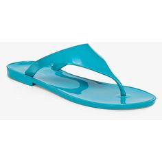 BCBGeneration Starr Metallic Thong ($49) ❤ liked on Polyvore featuring shoes, sandals, flip flops, blue, blue flats, blue shoes, metallic flat sandals, vegan flats and bcbgeneration shoes