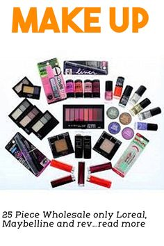 25 Piece Wholesale only Loreal, Maybelline and revlon Cosmetics Lot,assorted #makeupsets