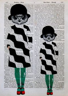 AFFINITI print poster mixed media painting by artretro on Etsy, $12.00