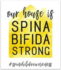 spina bifida awareness graphics - our house is spina bifida strong