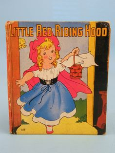 Whitman 1938 ''Little Red Riding Hood'' Illustrated by Ethel Hays -vintage children's book