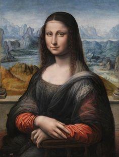 Leonardo da Vinci - Mona Lisa/La Gioconda (Kopie von Francesco Melzi oder Andrea Salai)
