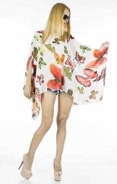 Bluza Dama Colored Butterfly  Bluza dama din material fin, ce cade lejer pe corp. Model inspirat ce poate fi purtat cu usurinta de mai multe tipuri de silueta. Ideala pentru sezonul cald.     Compozitie: 100%Poliester Mai, Butterfly, Model, Color, Dresses, Fashion, Vestidos, Moda