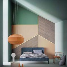 Géométrique Abstrait Hexagone formes Arthouse New York Geo Jaune Papier Peint 908301